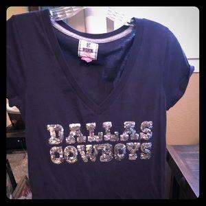Pink Victoria's Secret Dallas cowboys shirt
